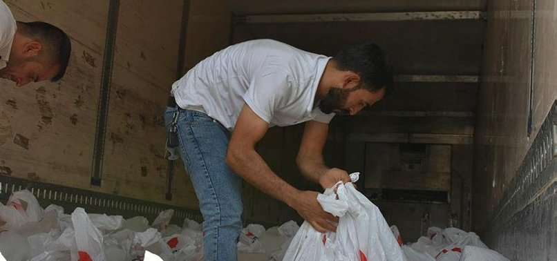 TURKISH RED CRESCENT HANDS OUT EID AL-ADHA MEAT TO POOR IN BANGLADESH