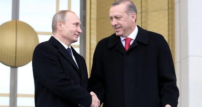 Putin says grateful to Erdoğan for Turkish Stream agreement