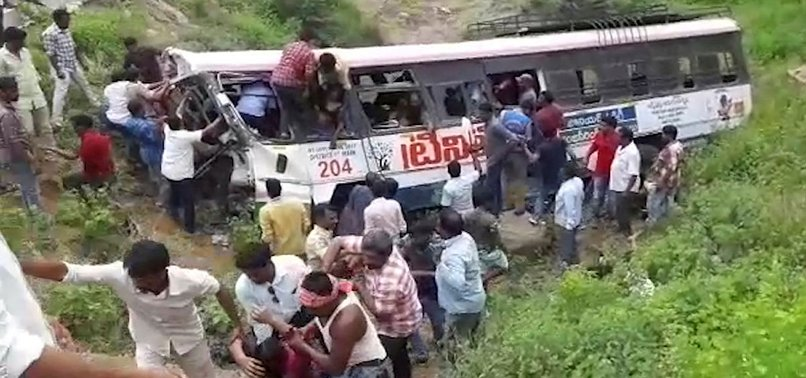 BUS CRASH IN SOUTH INDIA KILLS AT LEAST 55 PEOPLE