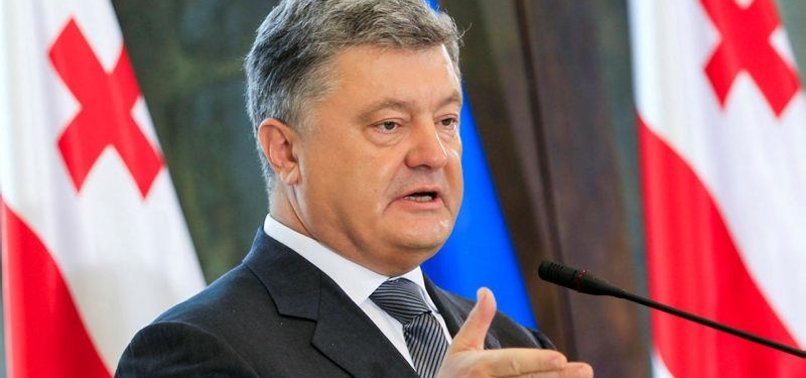 UKRAINE LEADER SLAMS RUSSIA OVER ARMS GIVEN TO REBELS