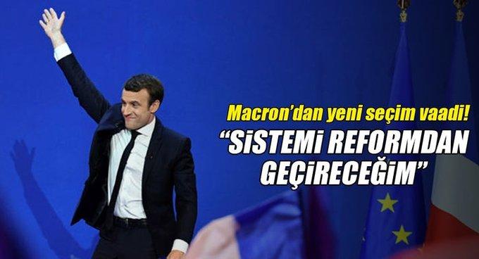 Fransada cumhurbaşkanı adayı Macrondan seçim vaadi!