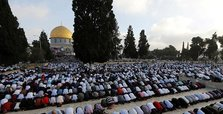 100,000 Muslims perform Eid prayers at J'lem's Al-Aqsa