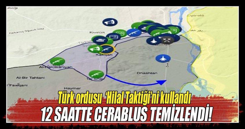 Türk ordusu 'Hilal Taktiği'ni kullandı