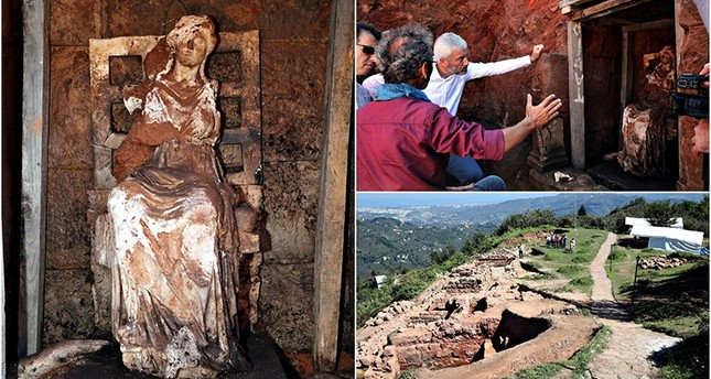 2,100-year-old statue of Cybele the Anatolian mother goddess unearthed in northern Turkey