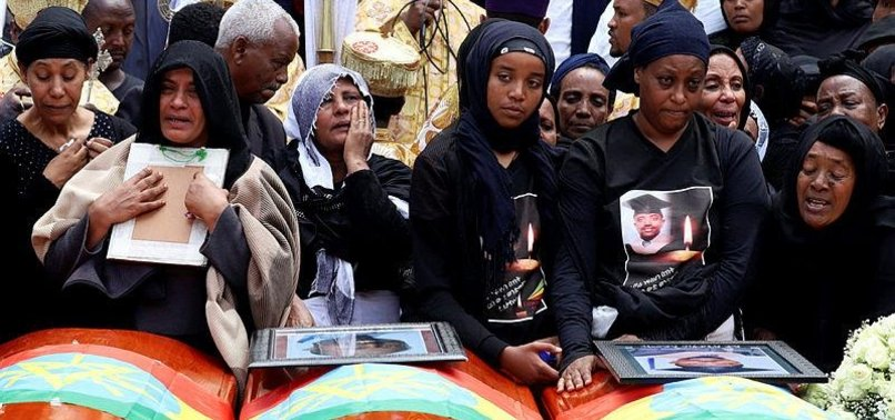 FAMILIES OF ETHIOPIAN AIR CRASH VICTIMS COPE WITH GRIEF