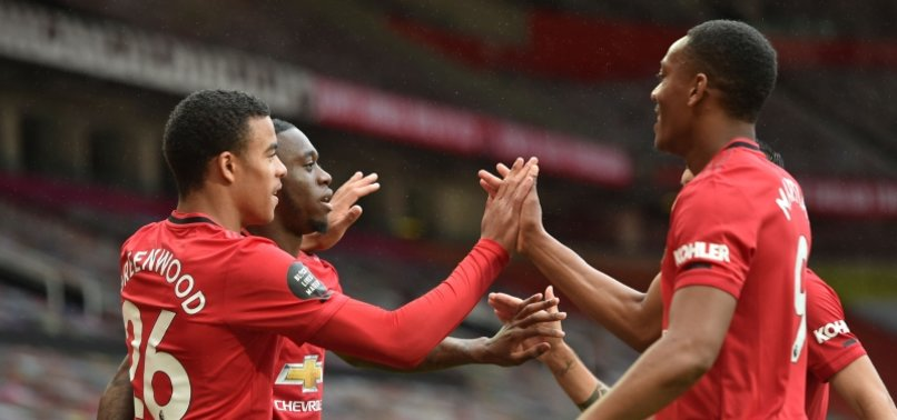 GREENWOOD DOUBLE HELPS MAN UTD TO 5-2 WIN OVER BOURNEMOUTH
