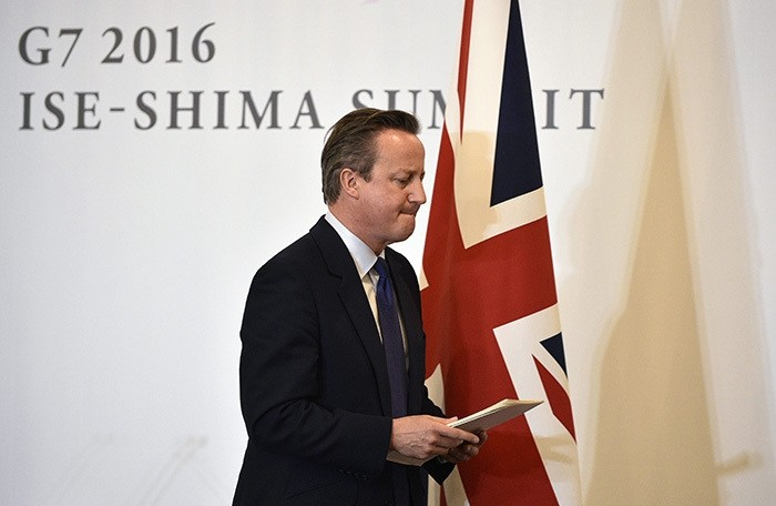 UK PM David Cameron leaves a press conference after the closing of the G7 Ise-Shima Summit in Shima, Mie prefecture, Japan, 27 May 2016. (EPA Photo)
