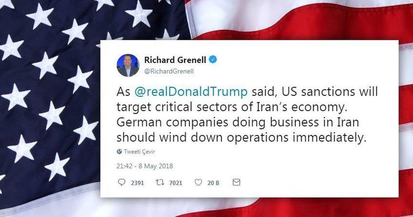 ABD Berlin Büyükelçisinden tepki çeken paylaşım