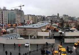 Taksim'deki cami alanına ilk kepçe vuruldu