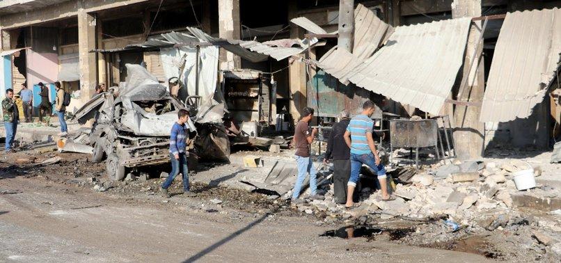 REGIME AIRSTRIKES ON MARKETPLACES IN REBEL-HELD IDLIB KILL 14 SYRIAN CIVILIANS