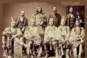 Sultan Abdülhamid'in fotoğraf albümünde yer alan Kızılderililer