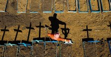 Brazil COVID-19 death toll reaches 175,964