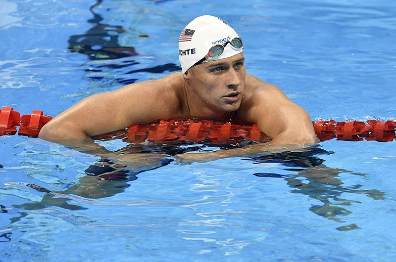 In this Aug. 9, 2016, file photo, United States' Ryan Lochte checks his time after a men' 4x200-meter freestyle relay heat during the swimming competitions at the 2016 Summer Olympics in Rio de Janeiro. (AP Photo)