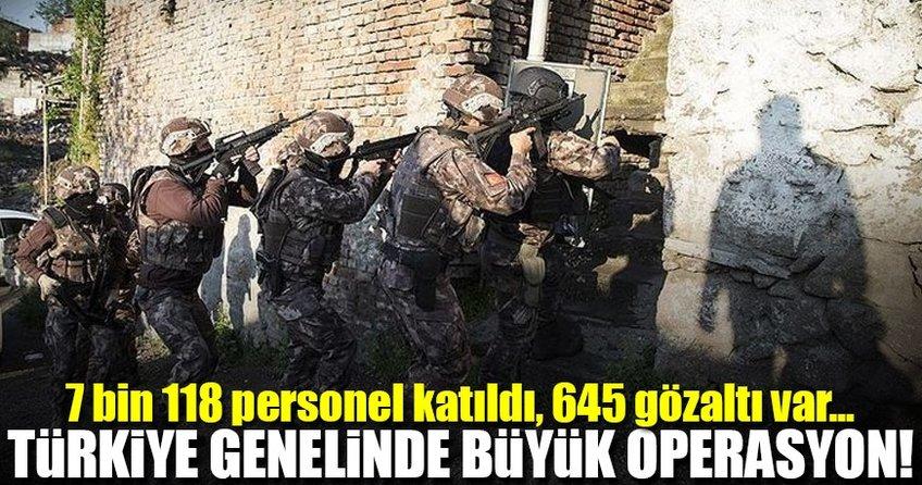 Türkiye genelinde uyuşturucu operasyonu: 645 gözaltı!