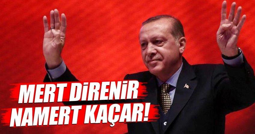 Cumhurbaşkanı Erdoğan: Mert direnir namert kaçar