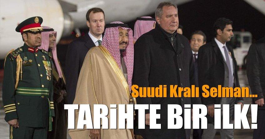 Tarihte bir ilk! Suud Kralı böyle karşılandı...