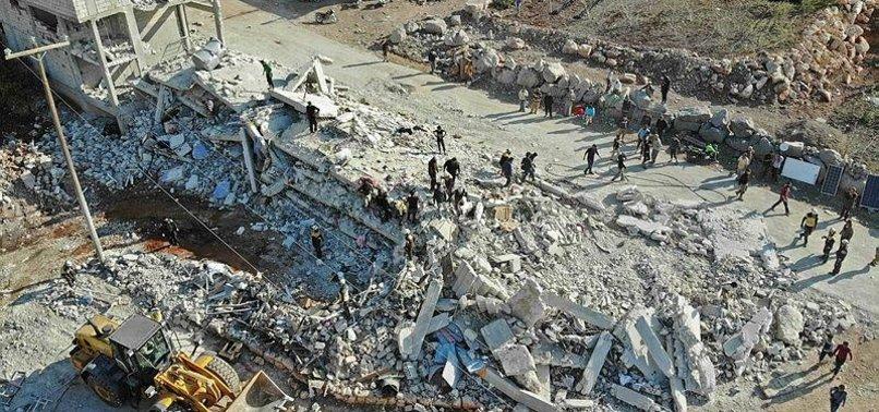 RUSSIAN AIRSTRIKES KILL 4 CIVILIANS IN SYRIAS IDLIB PROVINCE