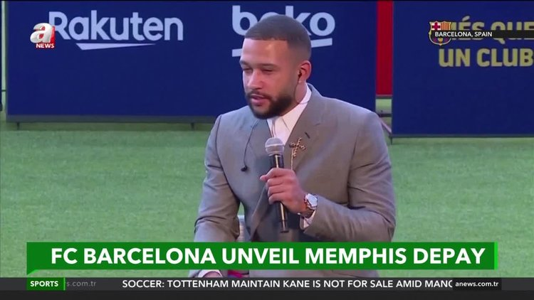 Memphis joined FC Barcelona from Lyon on a free transfer