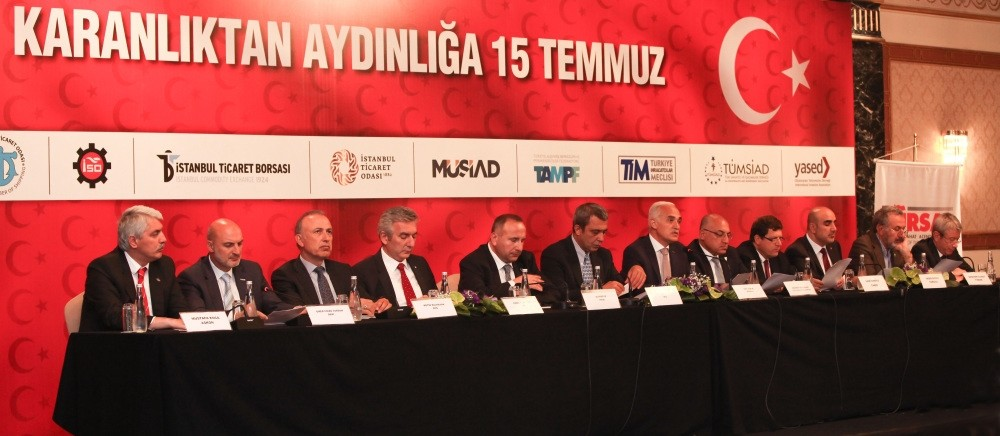 Business associations, gathered in the aftermath of the failed coup attempt on July 15 to launch their support for democracy, agreed to take the measures needed to root out any business people linked with FETu00d6.