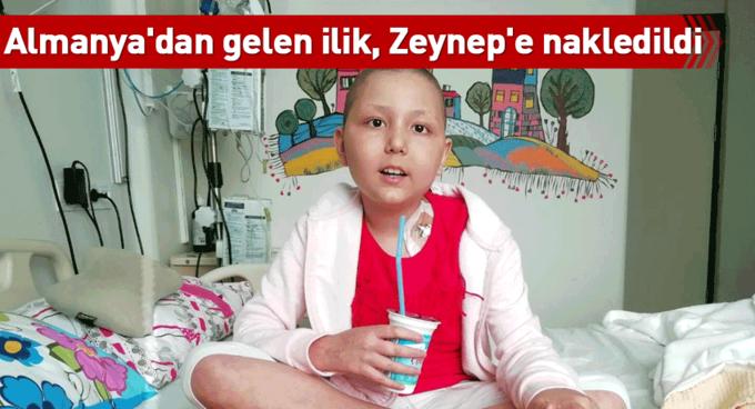 Almanyadan gelen ilik, Zeynepe nakledildi