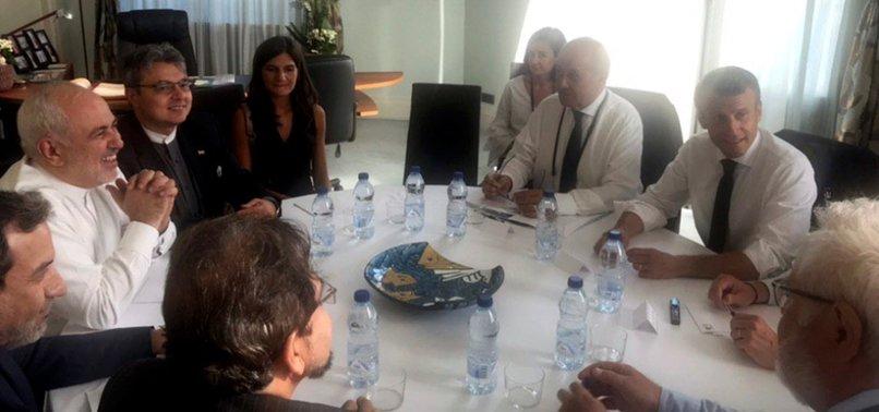 IRANS ZARIF MEETS MACRON AT G7, SAYS DIFFICULT ROAD AHEAD