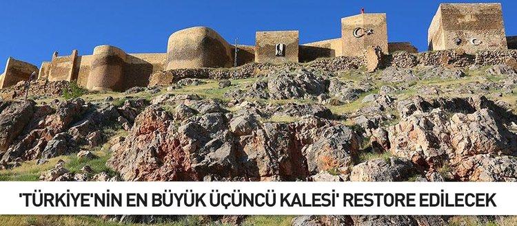 'Türkiye'nin en büyük üçüncü kalesi' restore edilecek