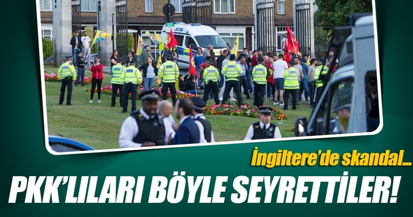 İngiliz polisi PKKlı hainlere seyirci kaldı