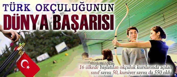 16 ülkede 550 kişi Türk okçuluğunu öğreniyor