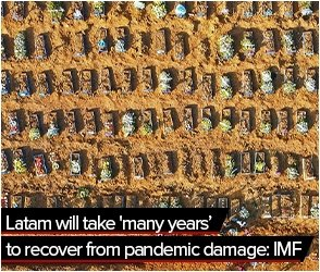 Latam will take 'many years' to recover from pandemic damage: IMF