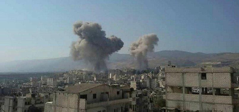 RUSSIAN AIR STRIKES KILL 7 CIVILIANS IN NORTHWESTERN SYRIA