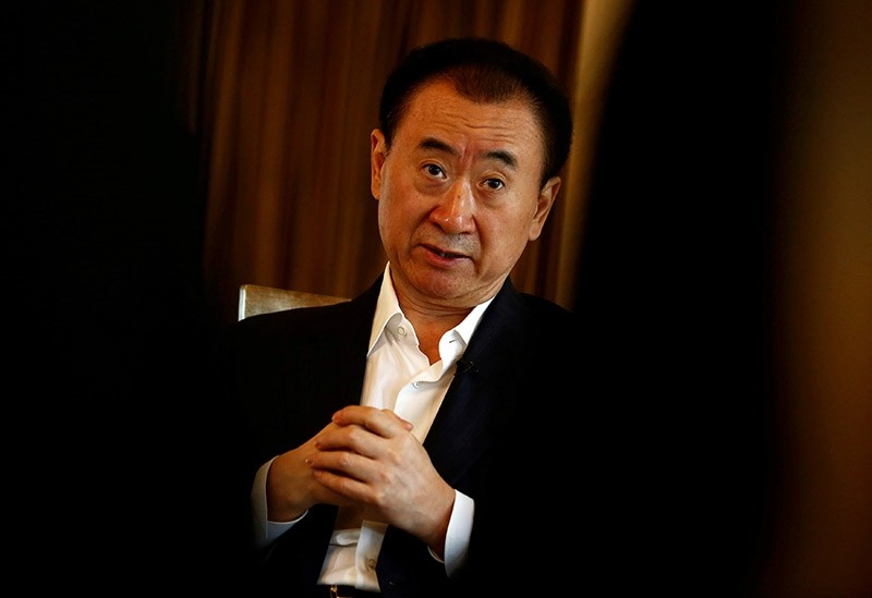 Wang Jianlin, chairman of the Wanda Group, speaks during an interview in Beijing, China, August 23, 2016.  (Reuters Photo)