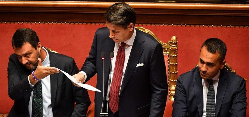 ITALIAN PREMIER RESIGNS, BLAMES DEPUTY FOR POLITICAL CRISIS