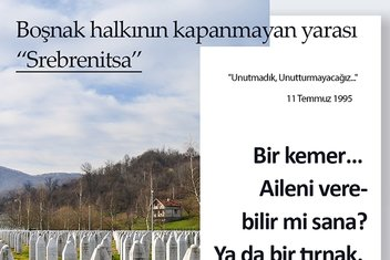 """Boşnak halkının kapanmayan yarası """"Srebrenitsa"""""""