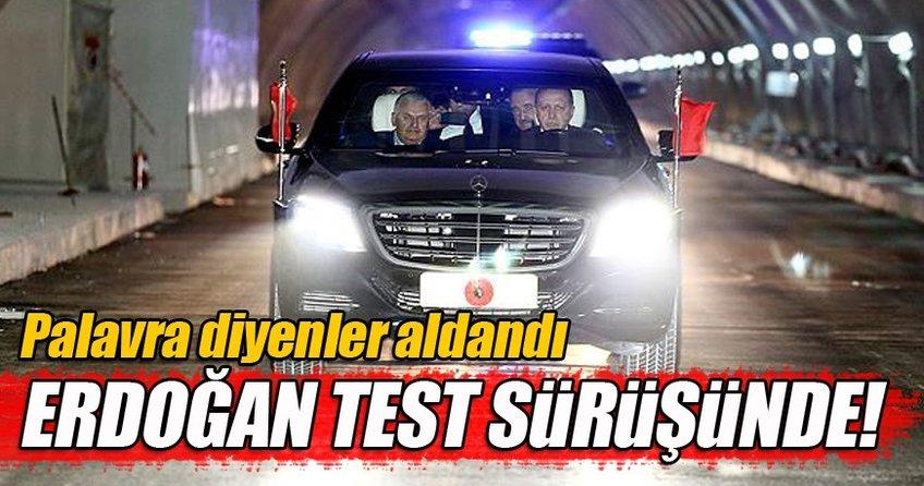 Avrasya Tüneli'nde test sürüşü yapıldı