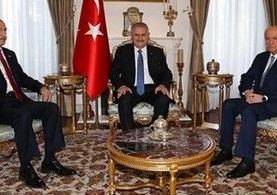 Binali Yıldırım, CHP ve MHP liderleri ile bir araya geldi