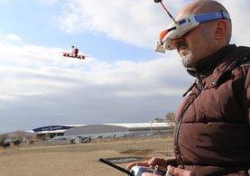 Aksaraylı ayakkabıcı 'toplama drone' yaptı