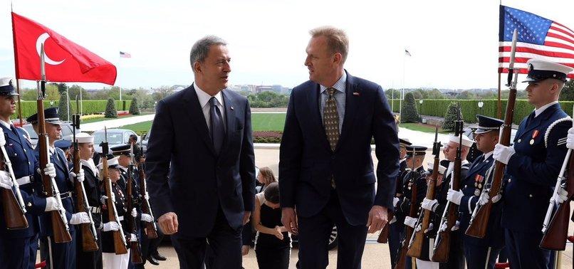 TURKISH, US DEFENSE CHIEFS HOLD TALKS IN CAPITAL WASHINGTON