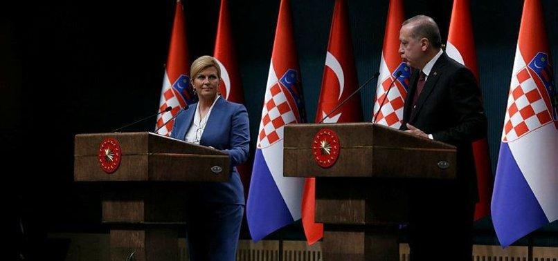 TURKEY, CROATIA AGREE TO STRENGTHEN COOPERATION
