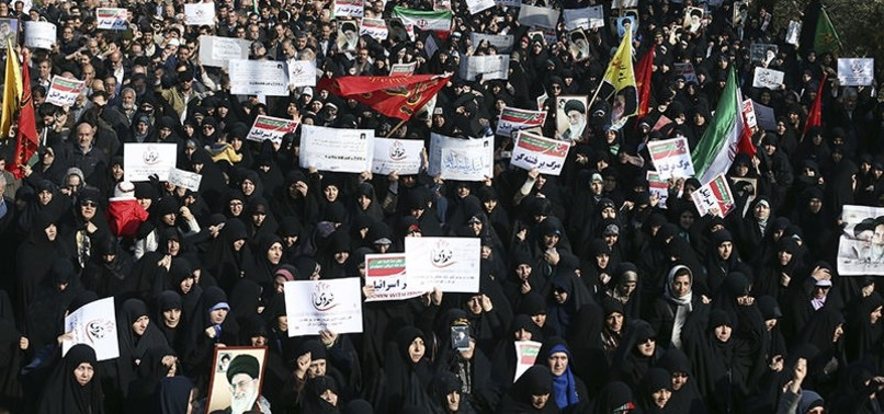 PRO-GOVERNMENT DEMONSTRATORS HOLD MASS RALLIES IN IRAN AFTER DAYS OF PROTEST, UNREST