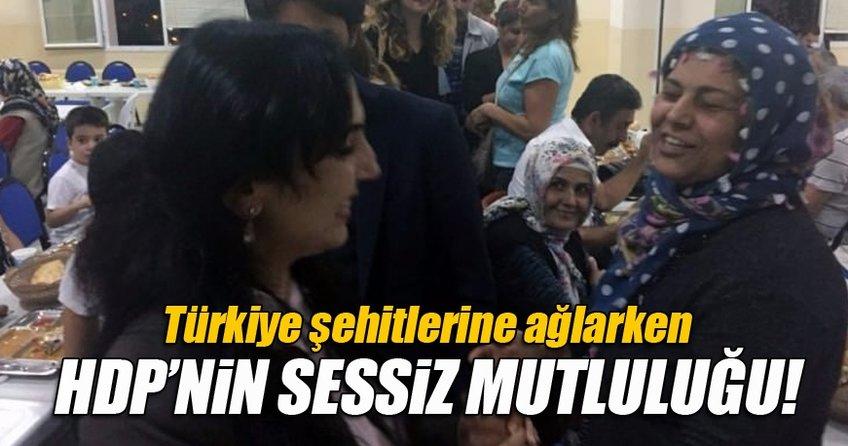 Türkiye şehitlerine ağlarken HDP'de yüzler gülüyor