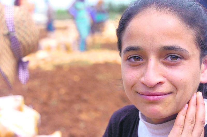 Farida, 13. (Photo by Martin Jay)