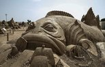 Antalya sand sculpture festival offers visual treat to visitors