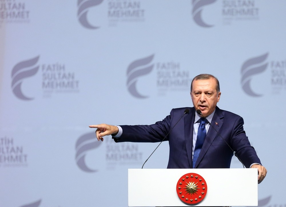 President Erdou011fan, speaking at the graduation ceremony for the Fatih Sultan Mehmet university on June 22, asserted that Turkey could hold a referendum to exit membership talks.