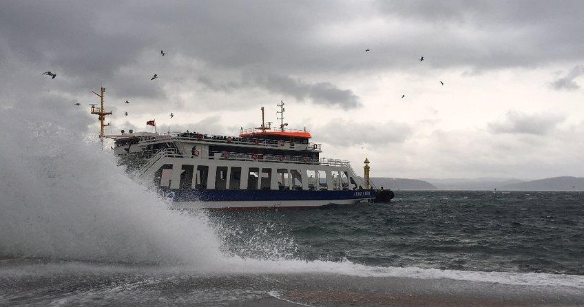 İstanbul'da deniz seferleri iptal edildi!