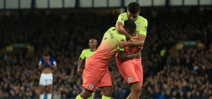 MAN CITY BEAT EVERTON 3-1, STAY 5 POINTS BEHIND LEADERS LIVERPOOL