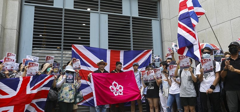 HONG KONG PROTESTERS CALL ON UK TO STAND AGAINST CHINA