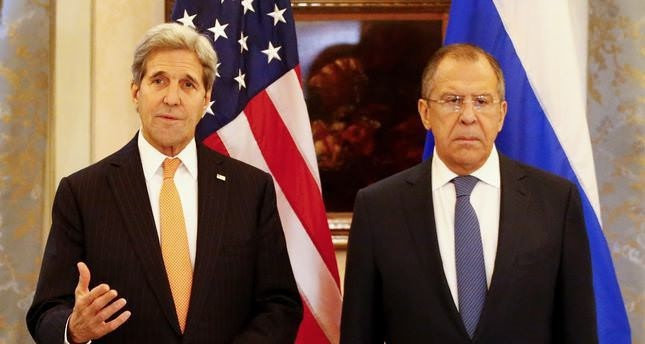 Kerry (L) and Lavrov