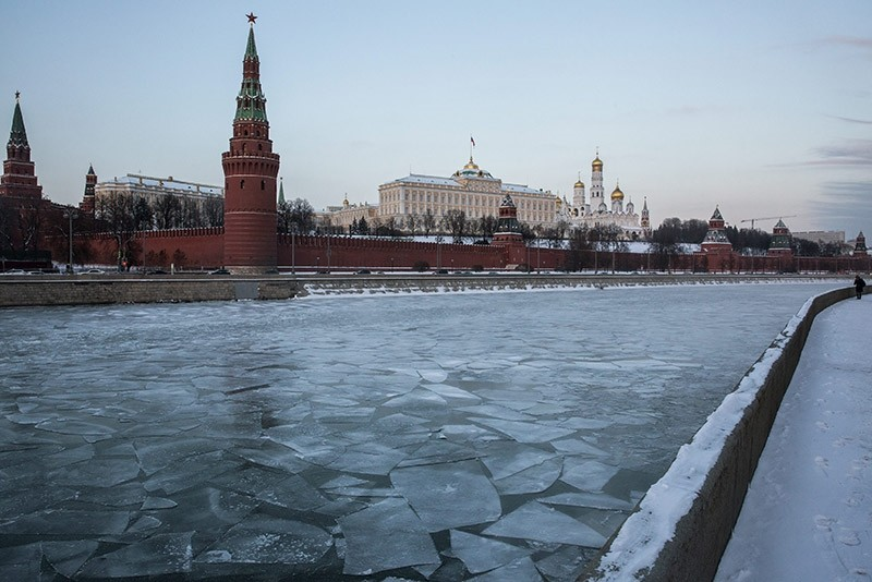 General view of the Moscow Kremlin, Russia. Jan. 2017. (EPA Photo)