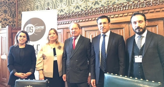 From left to right: DS Centre Director Pınar Kandemir, Prof. Gülnur Aybet, UK MP Geoffrey Clifton-Brown, AK Party Deputy Talip Küçükcan and D4ALL General Secretary Abdülkadir Özkan