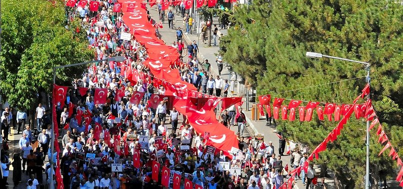 THOUSANDS POUR INTO STREETS THROUGHOUT EASTERN TURKEY IN SUPPORT OF SIT-IN PROTEST AGAINST PKK CHILD RECRUITMENTS